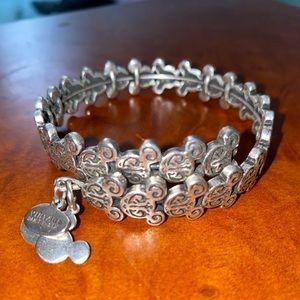 Disney Alex and Ani filigree wrap bracelet silver